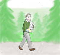 Storyboard Grandpa and Poochie Color