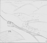 Storyboard Sketch House on Hill