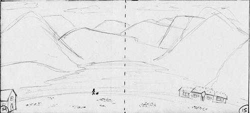 Storyboard Sketch Landscape